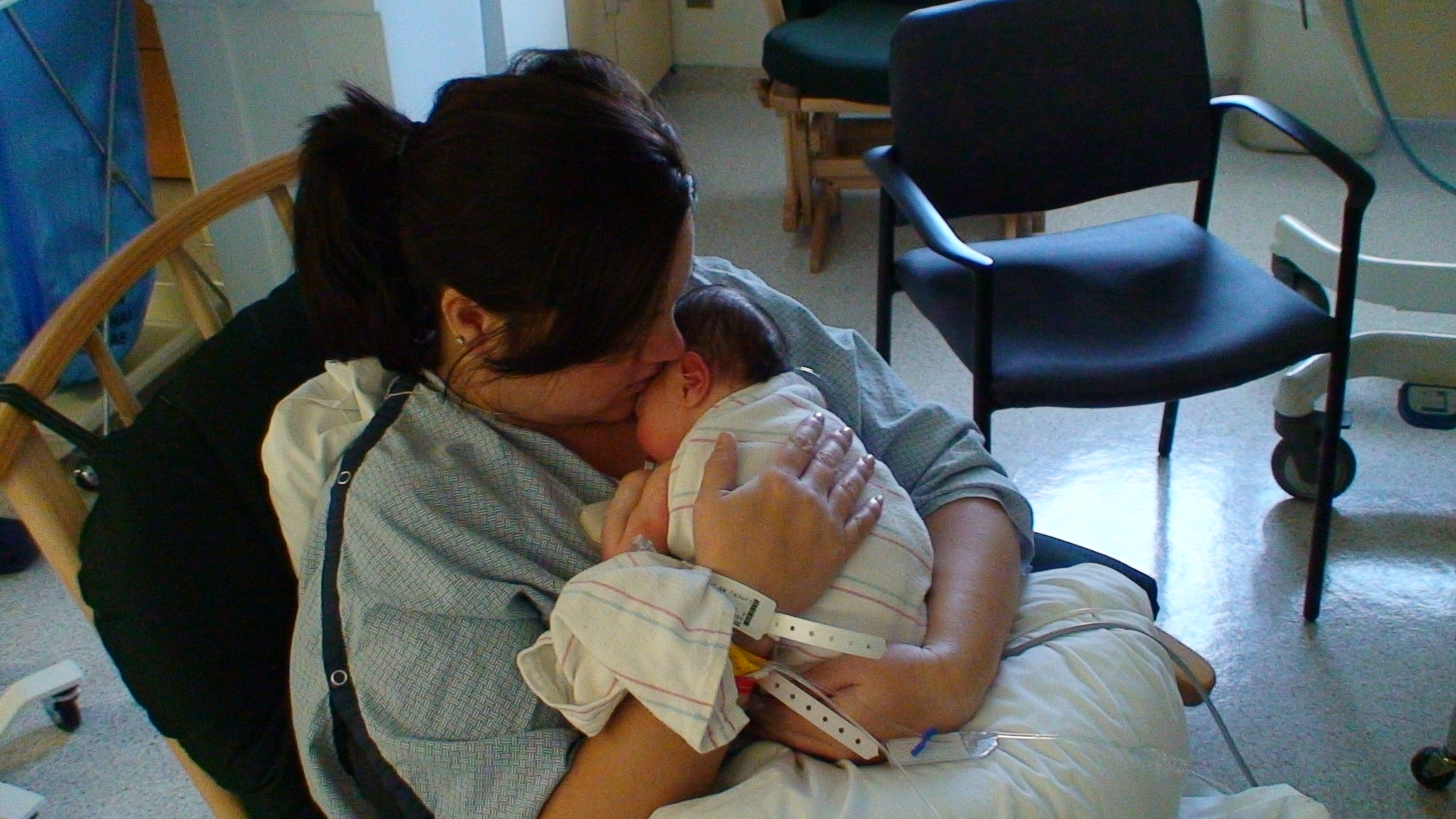 My first time holding Gav after he was born and in NICU