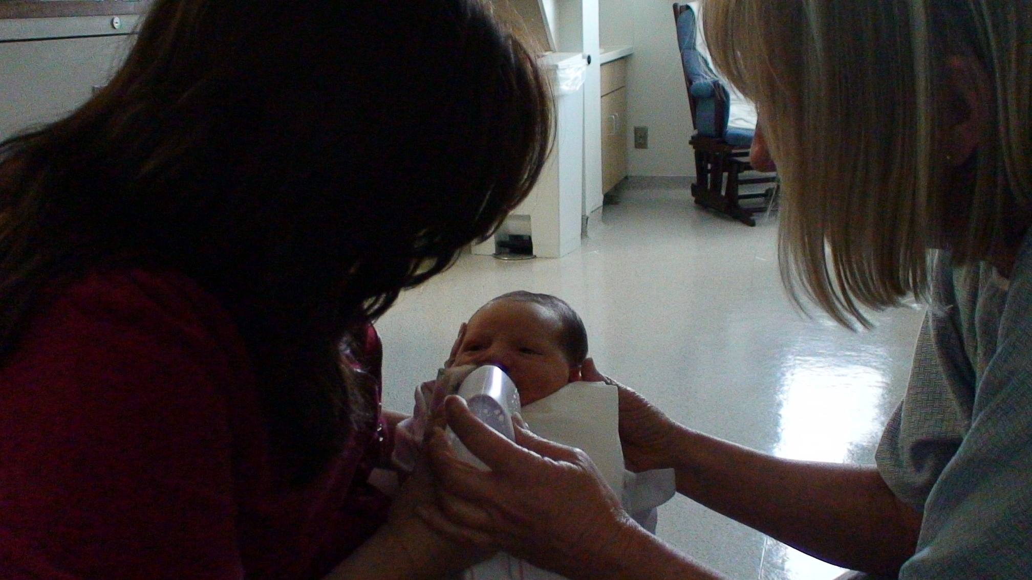 Working with OT on feeding with cleft palate nurser