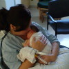 First time holding my son